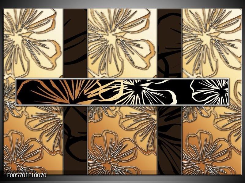 Glas schilderij Art | Geel, Crème Bruin
