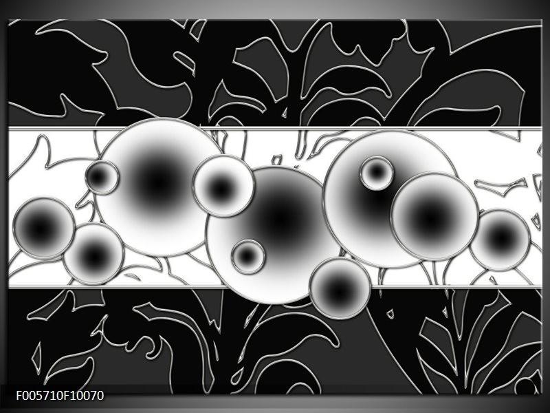 Glas schilderij Cirkel | Zwart, Wit