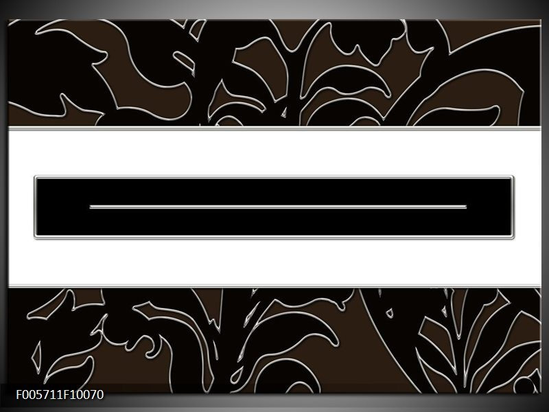 Glas schilderij Art | Zwart, Wit