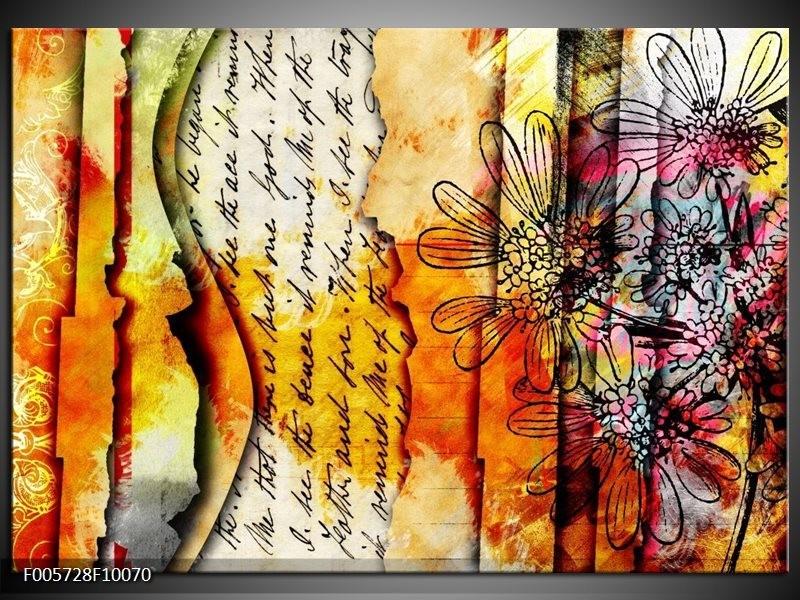 Glas schilderij Art | Geel, Oranje