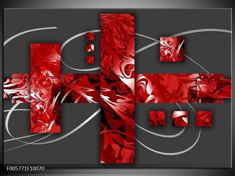 Glas schilderij Art | Rood, Grijs