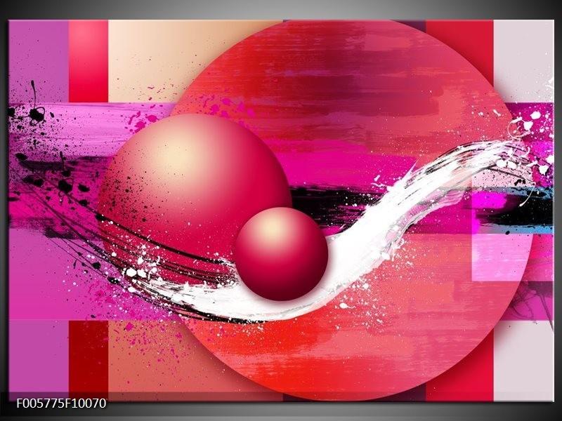 Glas schilderij Cirkel | Paars, Roze
