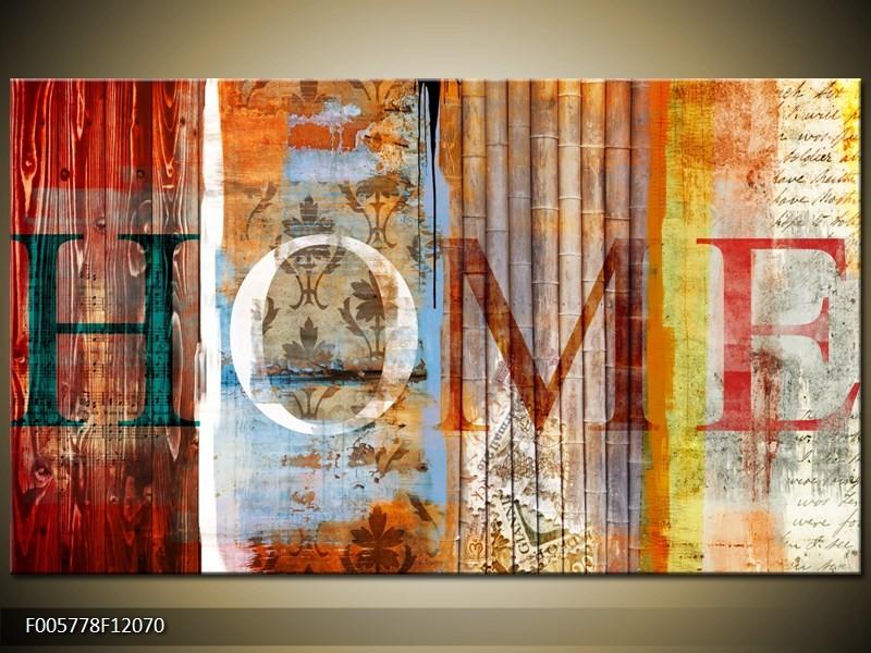 Canvas schilderij Home | Bruin | 120x70cm 1Luik