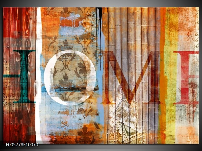 Glas schilderij Home | Bruin