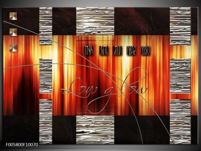Glas schilderij Modern | Oranje, Rood, Geel