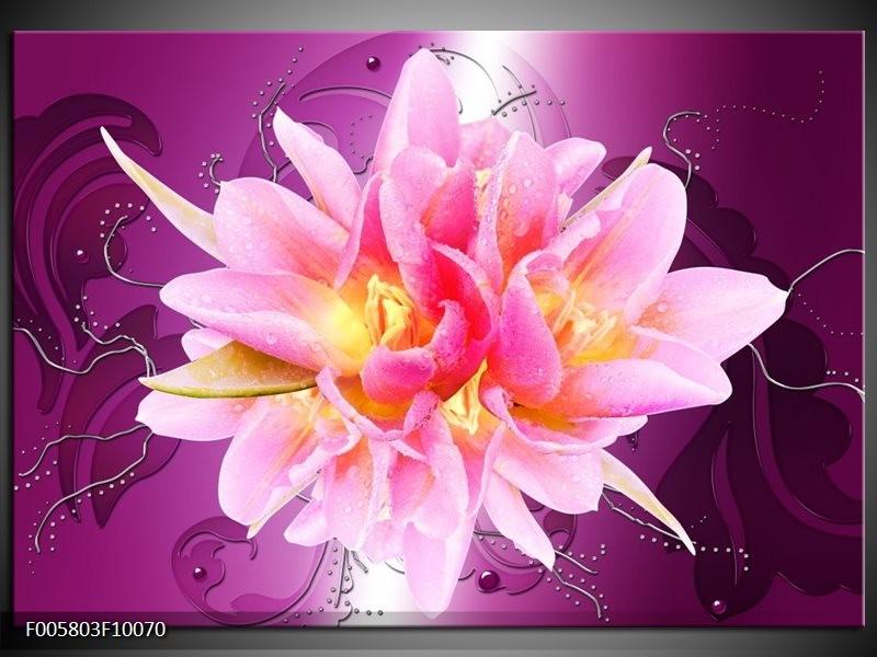 Glas schilderij Modern | Roze, Paars