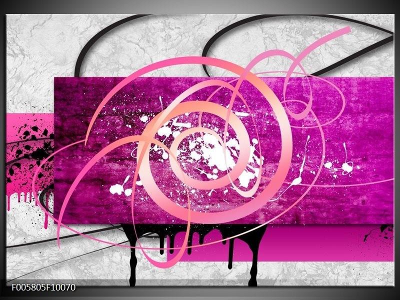 Glas schilderij Modern   Roze, Paars, Grijs