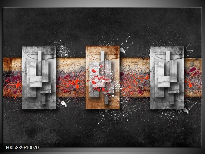 Glas schilderij Modern | Grijs, Zwart