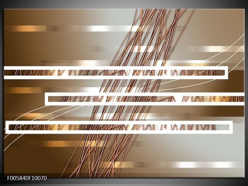 Glas schilderij Modern | Goud, Bruin