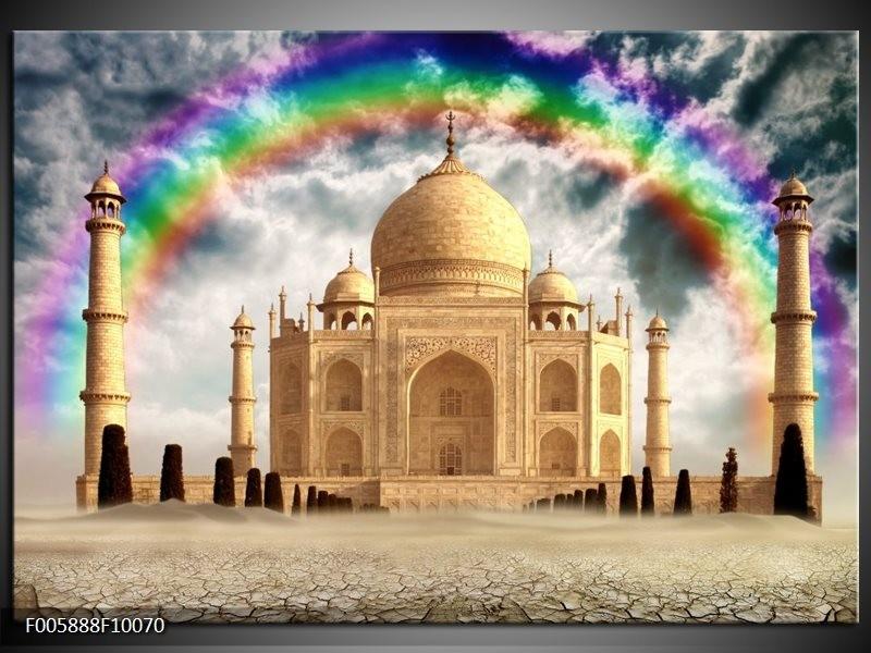 Glas schilderij Taj Mahal | Crème