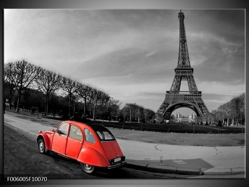 Glas schilderij Parijs | Grijs, Rood