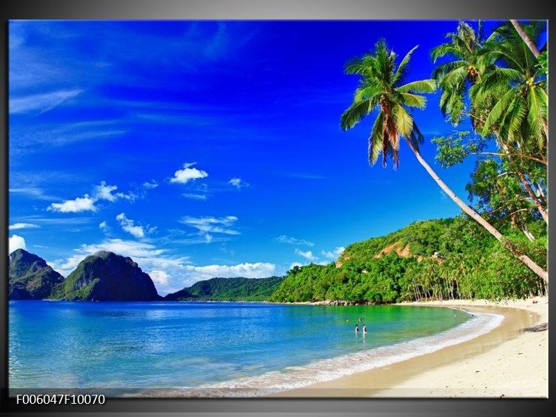 Glas schilderij Vakantie | Blauw, Groen