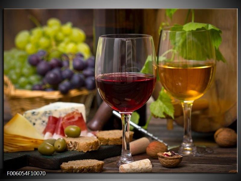 Glas schilderij Wijn | Groen, Bruin