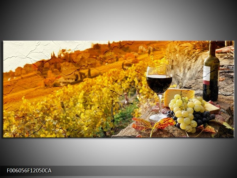 Canvas schilderij Frankrijk | Bruin, Oranje | 120x50cm 1Luik