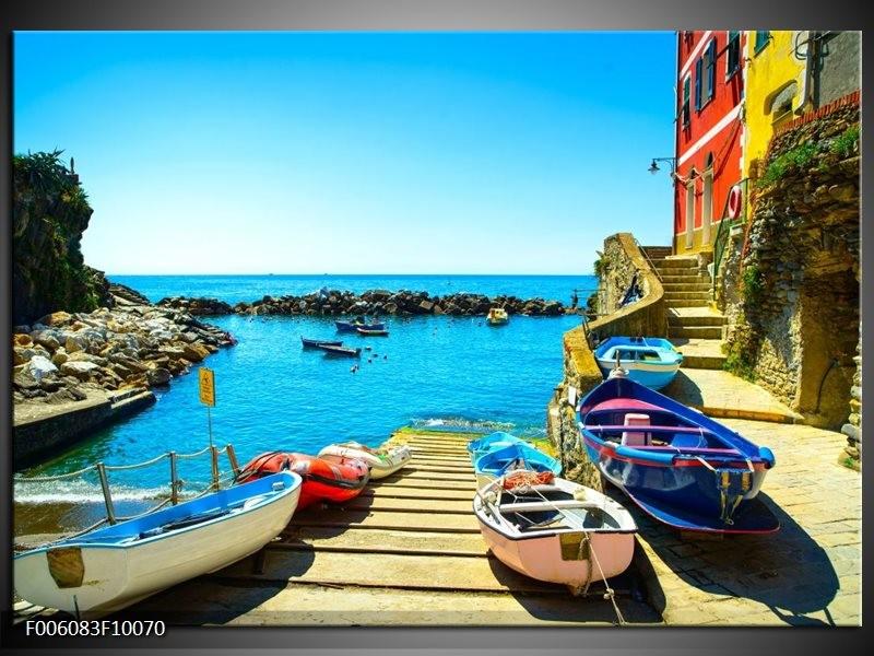 Glas schilderij Venetië | Blauw, Rood