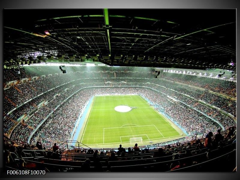 Glas schilderij Stadion | Groen