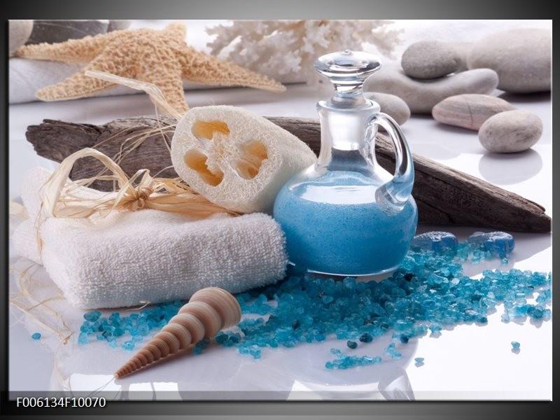 Glas schilderij Spa | Blauw, Wit