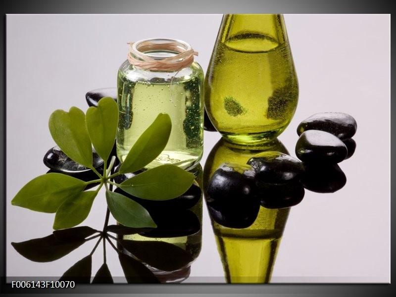 Glas schilderij Olijven   Groen, Grijs
