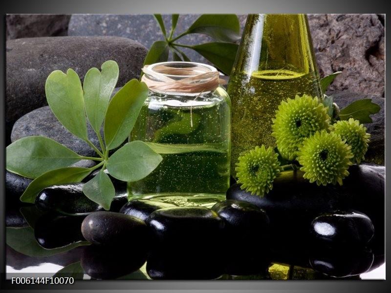 Glas schilderij Olijven | Groen, Zwart