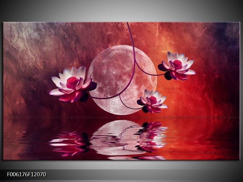 Canvas schilderij Modern | Rood, Paars, Roze | 120x70cm 1Luik