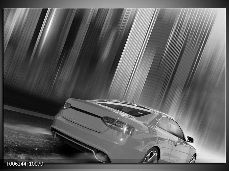 Glas schilderij Auto | Zwart, Grijs