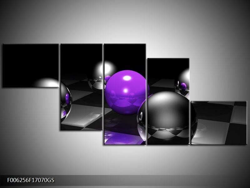 Glas schilderij Modern | Paars, Grijs | 170x70cm 5Luik