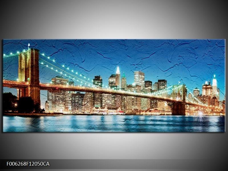 OP VOORRAAD Canvas art schilderij Brug | 120x50CM| F006268 CA