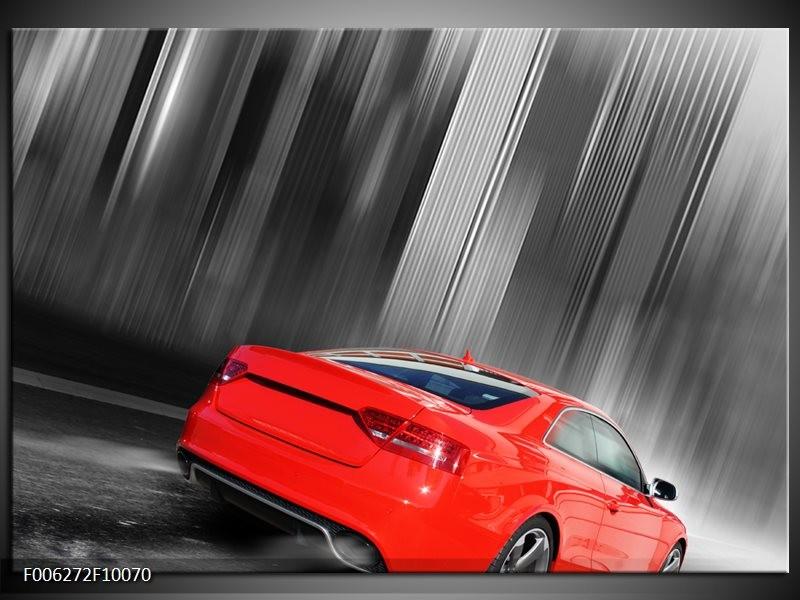 Glas schilderij Auto | Rood, Grijs