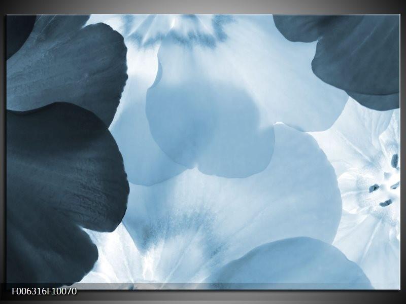 Canvas Schilderij Bloem | Blauw
