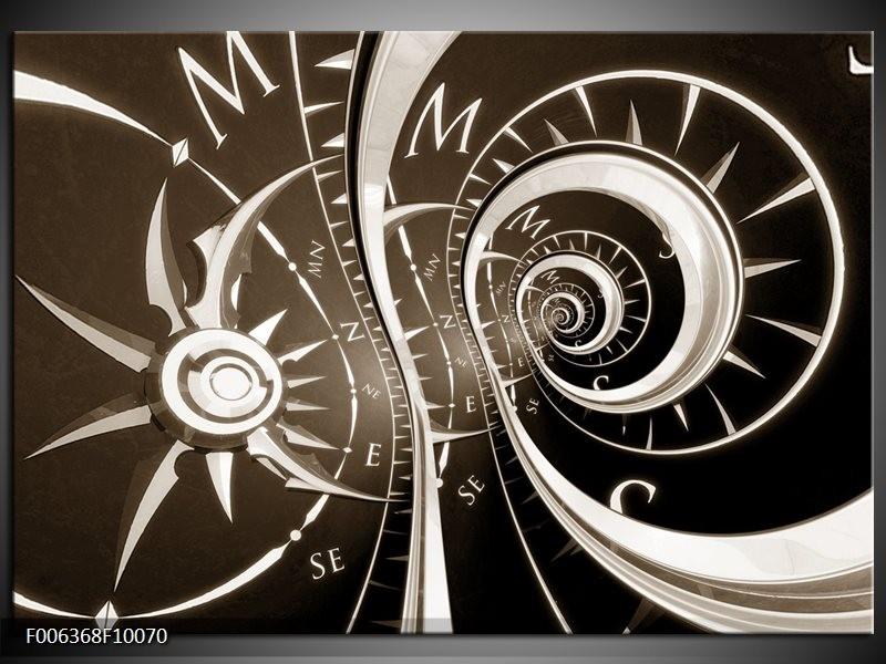 Canvas Schilderij Abstract | Sepia, Bruin