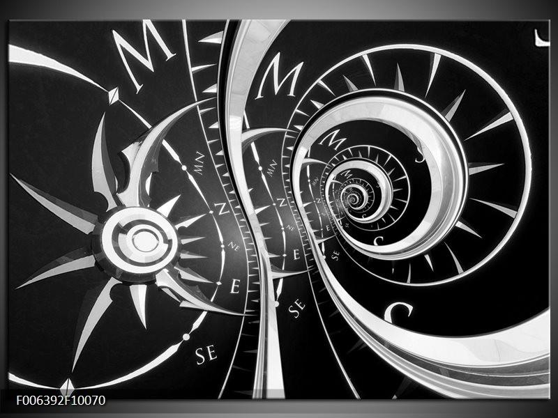 Canvas Schilderij Abstract | Zwart, Wit, Grijs