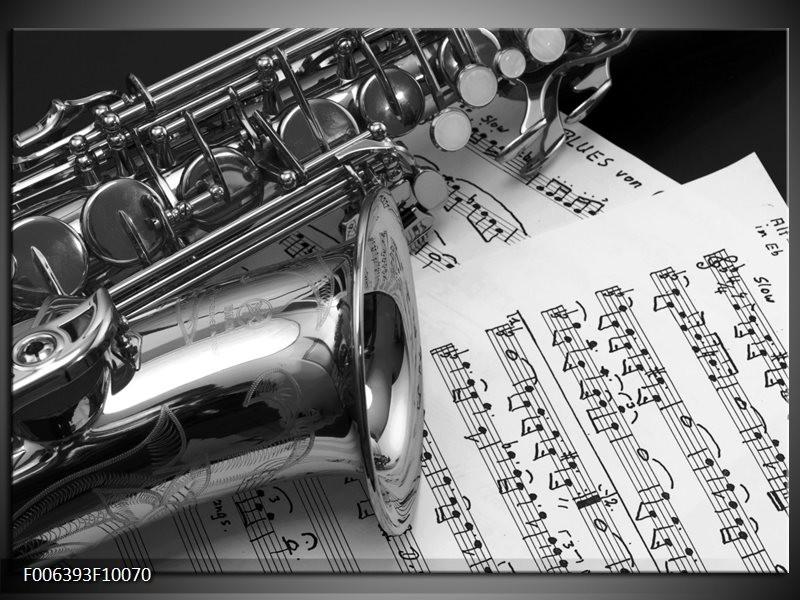 Canvas Schilderij Muziek | Grijs, Zilver
