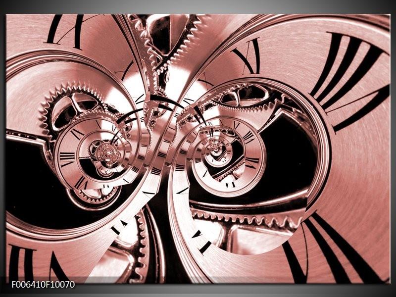 Canvas Schilderij Abstract   Bruin, Rood