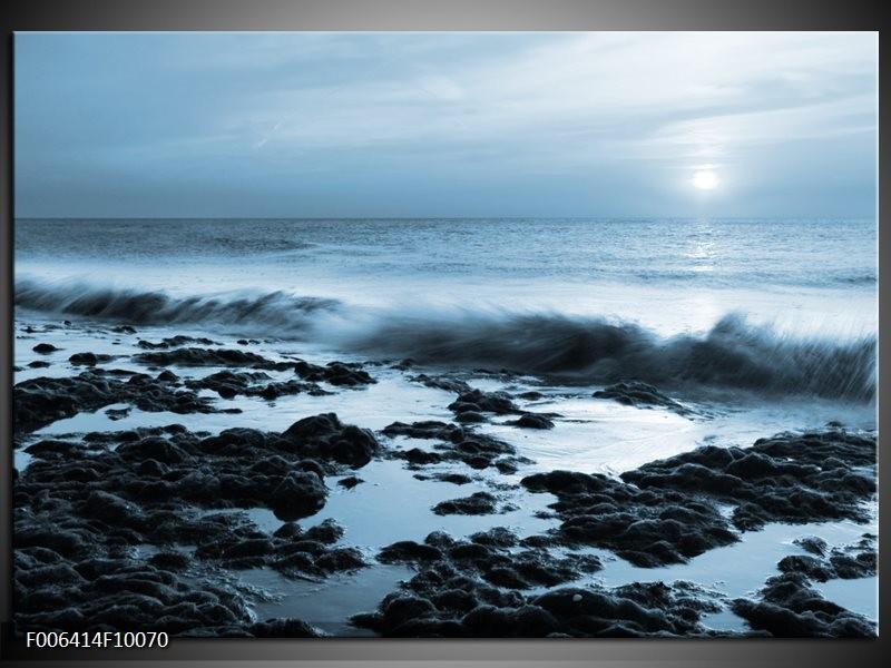 Canvas Schilderij Zee, Strand   Blauw