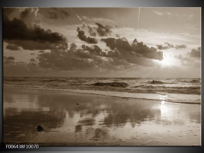 Canvas Schilderij Zee   Sepia