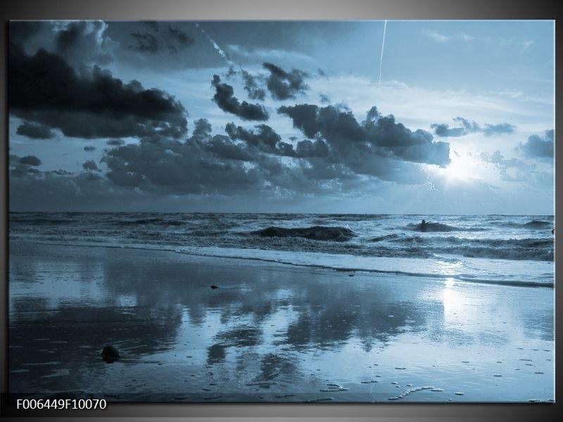 Canvas Schilderij Zee | Blauw