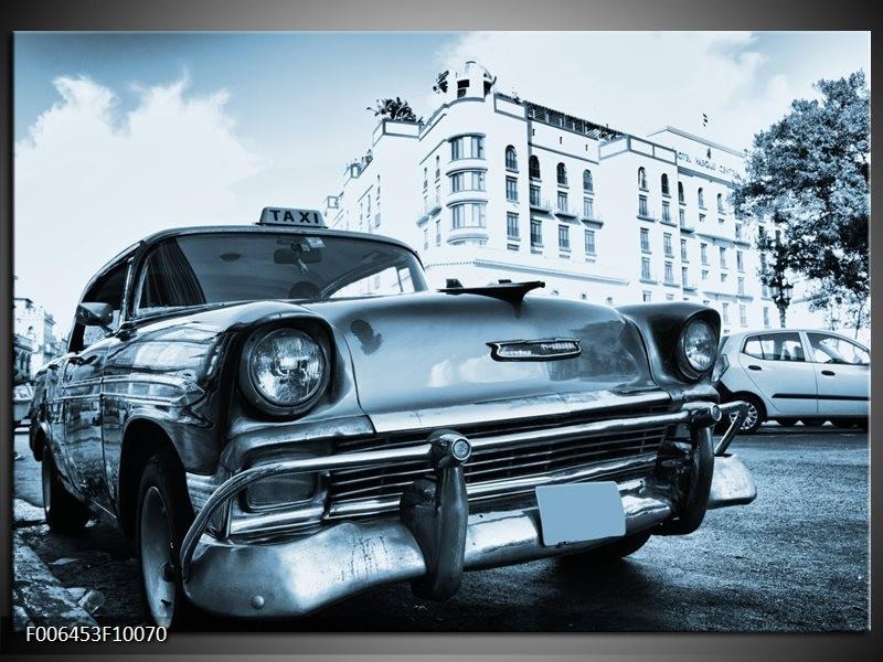 Canvas Schilderij Auto, Oldtimer | Blauw