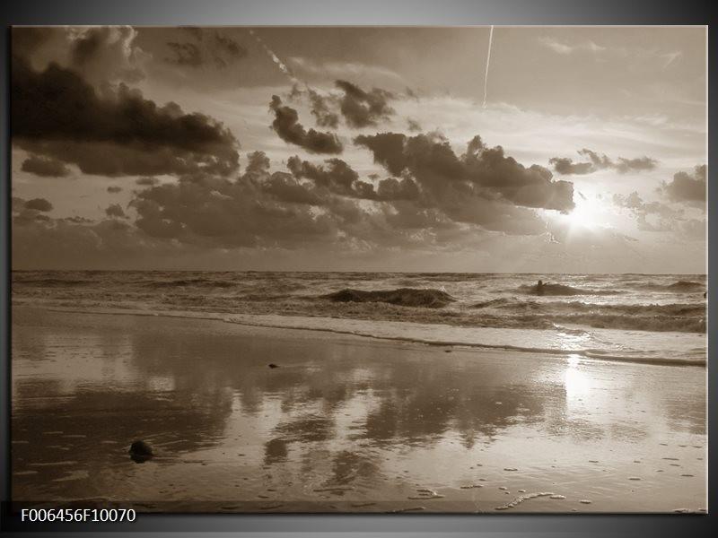 Canvas Schilderij Zee | Sepia