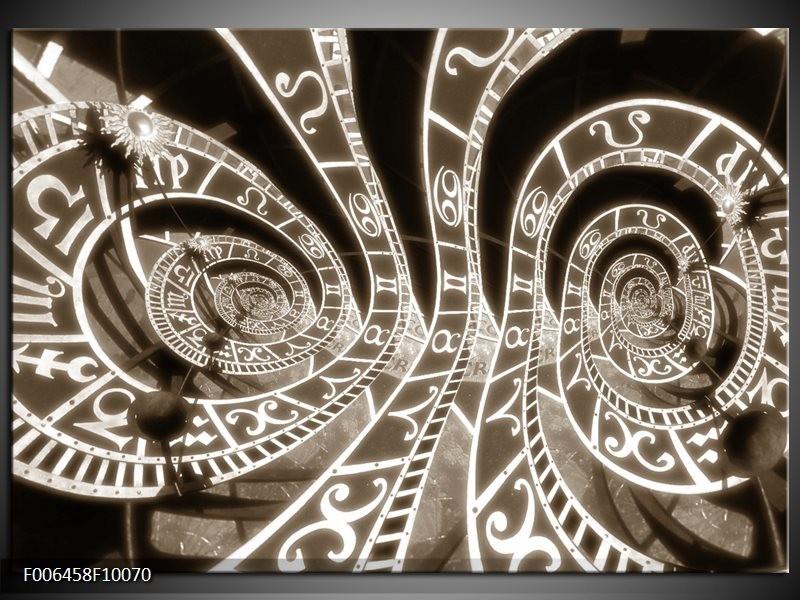 Canvas Schilderij Abstract   Sepia