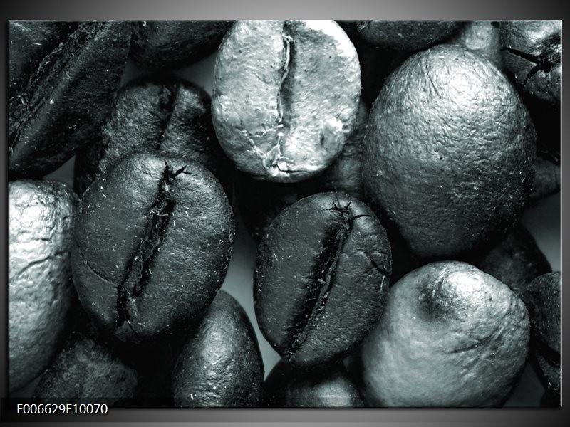 Canvas Schilderij Koffiebonen, Keuken | Grijs, Groen, Zwart