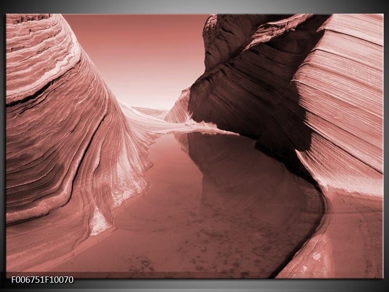Canvas Schilderij Zand | Bruin, Rood