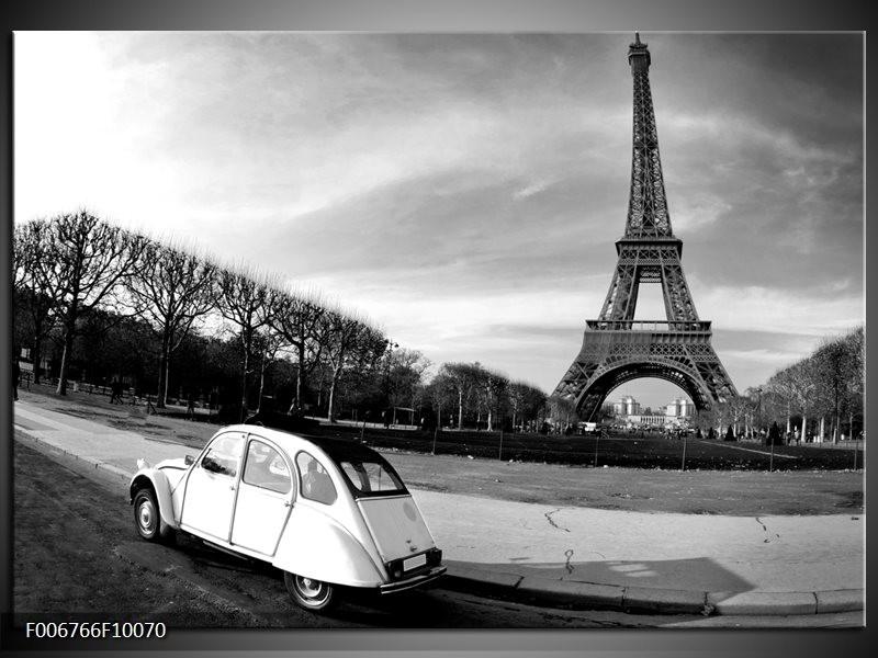 Canvas Schilderij Steden, Parijs   Zwart, Wit, Grijs