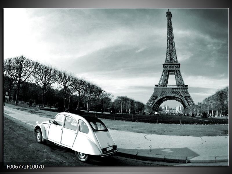Canvas Schilderij Steden, Parijs | Grijs, Groen