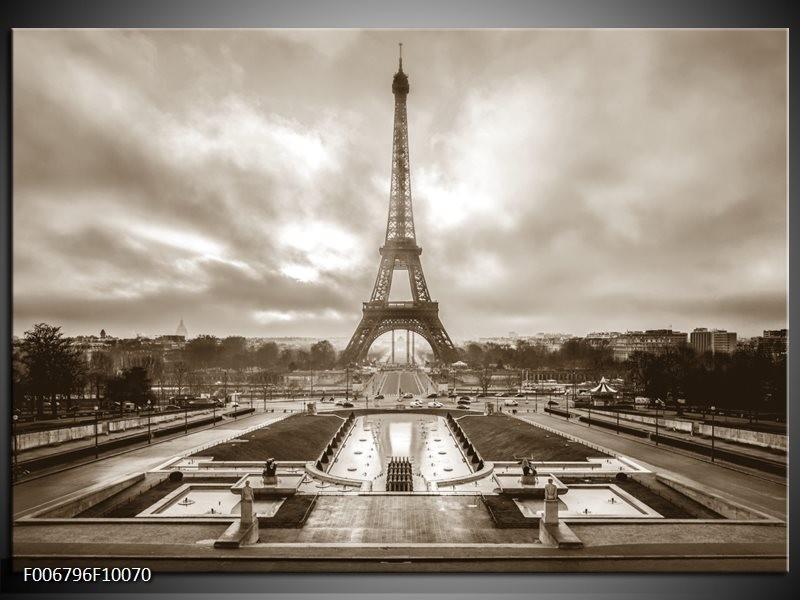 Canvas Schilderij Parijs, Eiffeltoren | Sepia