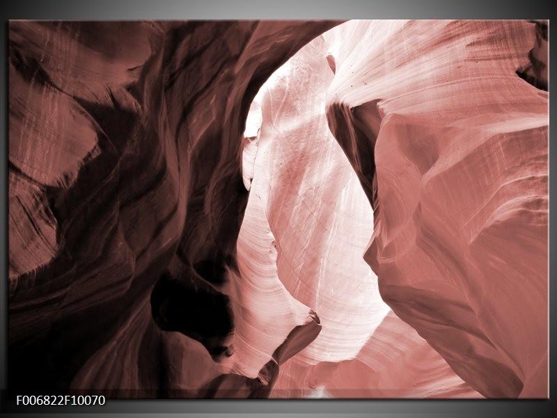 Canvas Schilderij Zand   Bruin, Rood
