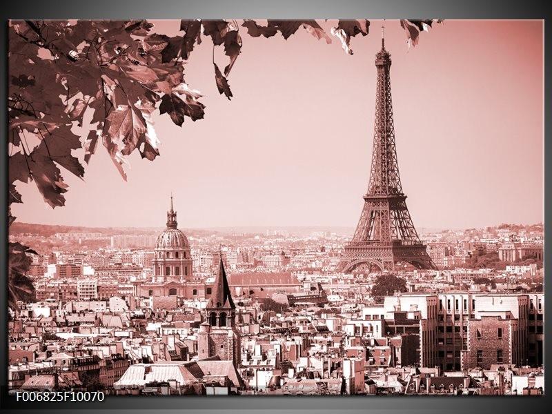Canvas Schilderij Parijs, Steden | Bruin, Rood