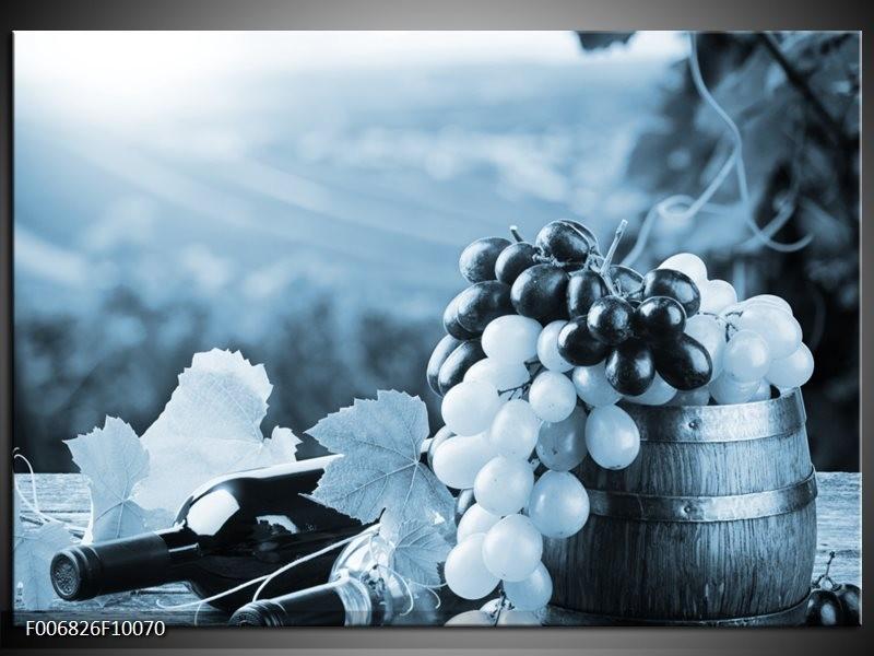 Canvas Schilderij Druiven, Keuken | Blauw, Grijs