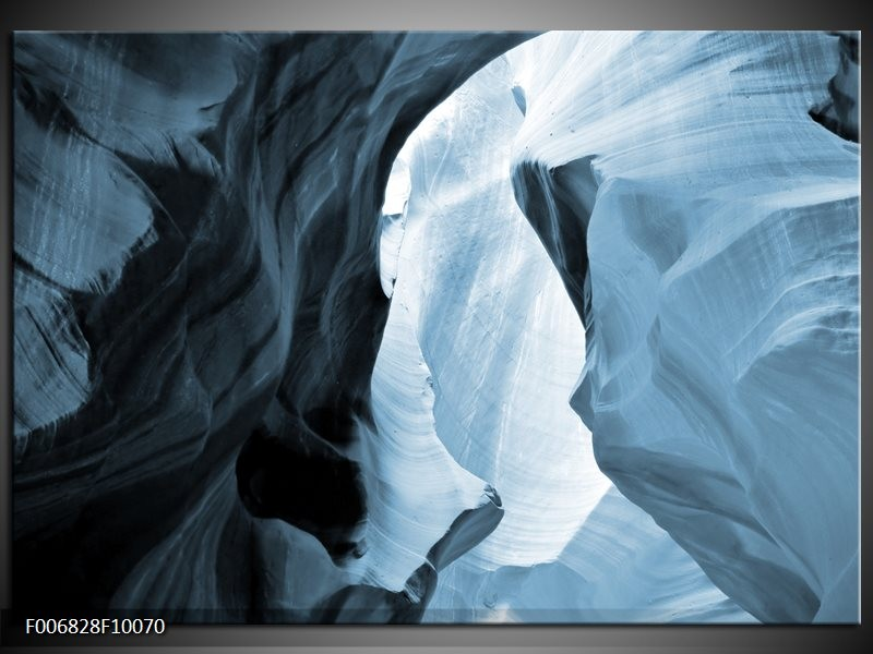 Canvas Schilderij Zand | Blauw, Grijs