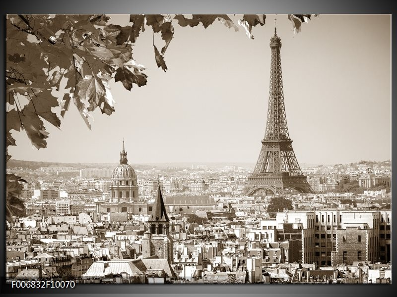Canvas Schilderij Parijs, Steden | Sepia