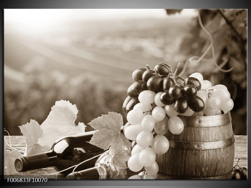 Canvas Schilderij Druiven, Keuken | Sepia